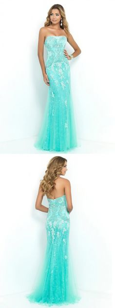 Mermaid Sleeveless Long Prom Dresses via PromWill !