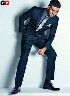 Wow!  I have this picture of Drake from the new GQ magazine at my desk! :P