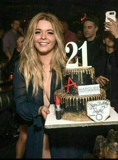 """Pretty Little Liars"" star Sasha Pieterse celebrated her birthday Friday night at Marquee Nightclub in The Cosmopolitan of Las Vegas (Photo credit: Andrew Pretty Little Liars Meme, Pretty Little Lies, 21st Birthday Cake For Girls, Cake Birthday, Birthday Outfits, Birthday Dresses, Sasha Pieterse, Cupcakes, Las Vegas Photos"