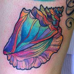 Beautiful shell tattoo