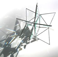 Stellar++Large+3D+Stained+Glass+Moravian+Star++by+katiediditglass,+$65.00
