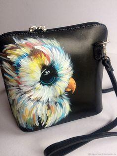 1c0172168ad1 Женские сумки ручной работы. Маленкая кожаная сумочка с росписью