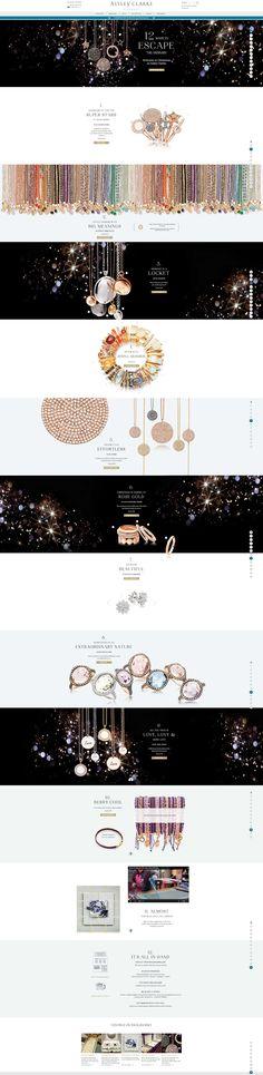 Astley Clarke s Christmas Jewellery Gift Guide Leaflet Layout, Web Layout, Layout Design, Homepage Design, Newsletter Design, App Design, Site Inspiration, Graphic Design Inspiration, Business Inspiration