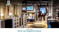 Lancement du site HIFI 35 | Acreat Web Technologies Liquor Cabinet, Storage, Design, Furniture, Home Decor, Rocket Launch, Purse Storage, Decoration Home, Room Decor
