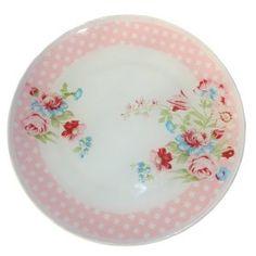 prato de vidro decorativo jardim rosa decorado com decoupagem duas estampas sobrepostas e pintura