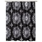 Mudhut™ Filigree Shower Curtain - Black/White (72x72