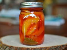 Pickled Nectarines by Marisa McClellan, seriouseats: Phenomenal with pork? #Nectarines #Preserves