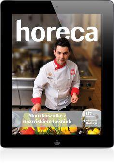 """""""HORECA"""" to czasopismo skierowane do hotelarzy i restauratorów. Wydawca: Eureco, Wersja iOS."""