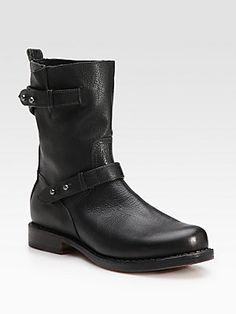Rag & Bone Leather Moto Ankle Boots