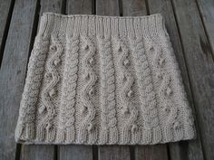 Ravelry: Cabled skirt pattern by Debbie Bliss
