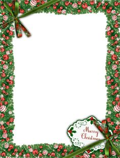 Merry Christmas Green PNG Photo Frame