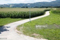 DOBOVA, SLOVENIA - JULY 19: The sun shines on fields beside a... #dobova: DOBOVA, SLOVENIA - JULY 19: The sun shines on fields… #dobova