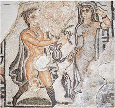 Particolare del mosaico dalla cripta della Cattedrale di Regio Emilia, IV d.C.