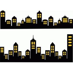 Silhouette Design Store - Search Designs : new york city Godzilla Birthday Party, Spiderman Birthday Cake, Avengers Birthday, Batman Party, Superhero Birthday Party, Silhouette Design, Building Silhouette, Fête Spider Man, City Buildings