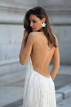 El vestido de flecos de Zara looks - Lady Addict Vestidos Zara, Backless, Dresses, Style, Fashion, Long Dresses, Draping, Vestidos, Moda