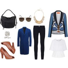 """""""Blues and Tans"""" by elliott-lucca on Polyvore"""