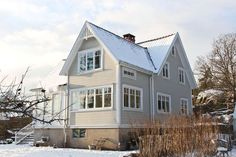 Helena lives with her family on the west coast of Sweden. Style At Home, Wooden Buildings, Roof Lines, Scandinavian Home, Luxurious Bedrooms, Country Style, Countryside, My House, Sweet Home