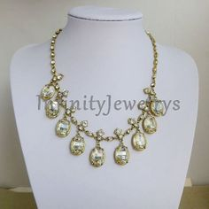 Crystal Necklace Chunky Necklace Statement by InfinityJewelrys, $19.99
