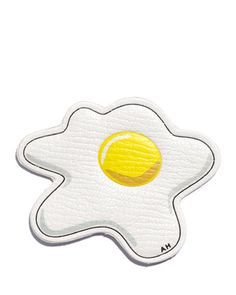"""Egg Leather Sticker for Handbag by Anya Hindmarch at Neiman Marcus. 2"""", $75"""