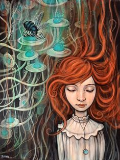 Blue Bee - Kelly Vivanco - Art