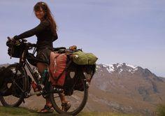 Bike across New Zealand or length of Chile. I want a big challenge. Biking or sailing trip could be my reward for finishing massage school. Cycling Girls, Road Cycling, Road Bike, Touring Bicycles, Touring Bike, Rando Velo, Rio, Commuter Bike, Sherlock