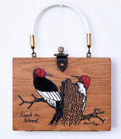 Enid Collins Knock on Wood Box Bag by niwotARTgallery on Etsy, $140.00