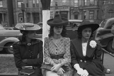 Church Divas, 1941 African American girls, South Side of Chicago, Illinois, 1941. Vintage African American photography courtesy of Black History Album,