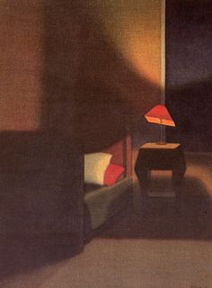 """the-night-picture-collector: """"""""Stefan Johansson, Shadows in the Bedroom Corner, 1944 """" """" Light Painting, Painting & Drawing, Stefan Johansson, Street Art, Bedroom Corner, Night Pictures, Sculpture, Light And Shadow, Picture Show"""