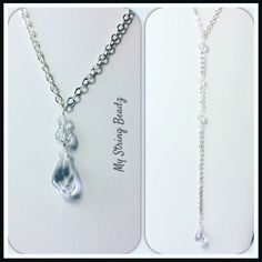 Elegant Back Necklace...beautiful special occassion piece for low backed dresses or double it to wear both swarovski crystal pieces to the front!
