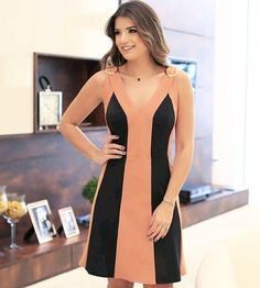 Swans Style is the top online fashion store for women. Shop sexy club dresses, jeans, shoes, bodysuits, skirts and more. Stylish Dresses, Nice Dresses, Dresses For Work, Formal Dresses, Fashion Wear, Fashion Dresses, Essentiels Mode, Kurta Designs, Colorblock Dress