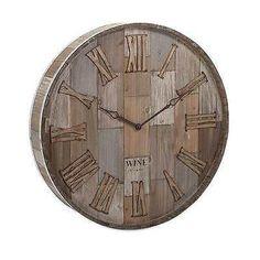 Imax Large Wine Barrel Wood Clock, Home Accent Wall decor 83457