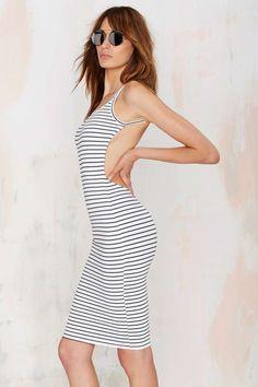 Along the Riviera Backless Dress//