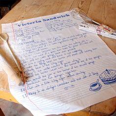 'Victoria Sandwich Cake' Recipe Tea Towel at lisaangel.co.uk