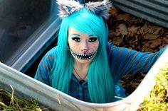 Cheshire Cat Costume | CHESHIRE CAT! (Makeup Tutorial & Costume) - YouTube