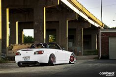 White s2000. So dope. Well finished by a lady!