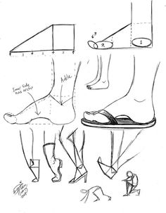 How to draw feet - Drawing Reference Drawing Studies, Drawing Skills, Drawing Lessons, Drawing Techniques, Drawing Tips, Figure Drawing, Drawing Reference, Drawing Sketches, Art Drawings