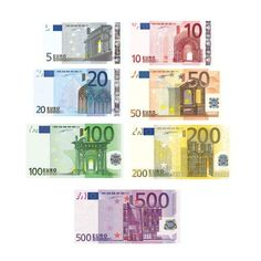 Euro Notes Euro Coins Clipart ❤ liked on Polyvore featuring money, accessories, fillers and other