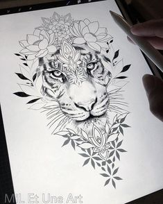 Loral thigh / hip design within reach! With pleasure I tattoo this be … – diy tattoo images Loral thigh / hip design within reach! With pleasure I tattoo this be Floral Tattoo Design, Flower Tattoo Designs, Tattoo Designs For Women, Tiger Tattoo Design, Thigh Tattoo Designs, Tattoo Floral, Elephant Tattoo Design, Elephant Tattoos, Diy Tattoo