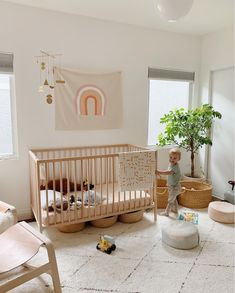 my scandinavian home: Before & After: A Dated LA House Becomes A Light & Airy Family Home Ikea Cot, Beige Nursery, Childrens Playhouse, Scandinavian Home, Beautiful Homes, Home And Family, Bath Storage, Storage Baskets, Home Decor