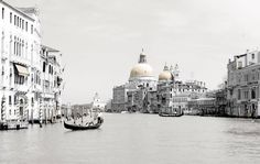 Gondoliere on the Grand Canal with a view of the Basilica di Santa Maria della Salute (Basilica of Saint Mary of Health) on the background. Venice.  Mixed Media photography. Printed on Fine Art Paper 42 x 60 (Paper size).  Signed by Fabio Bressanello