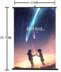 """Hot Japan Anime Your Name Poster Wall Scroll Home Decor 8""""×12"""" 05"""