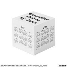 2017-2020 White Small Calendar Cubes by Janz