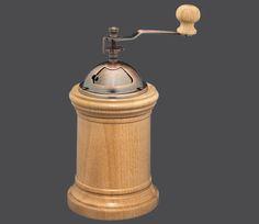 Zassenhaus Serie Bogotá  Buche natur Hand-Kaffeemühle mit Qualitäts-Mahlwerk aus Hochleistungskeramik, mit praktischer, stufenloser Grob-/Feineinstellung Höhe: 22 cm Durchmesser: 10,5