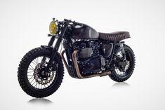 David Beckham's Triumph Bonneville Cafe Race. 2 wheels of beauty