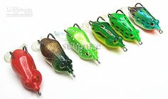 New Soft Bait Soft Fishing Lures Double Tail Ray Frog Fake Baits ...