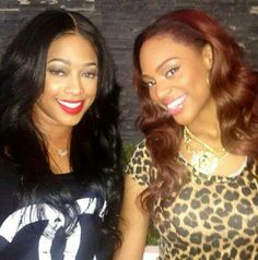 Female Rappers Trina and Brianna Perry.