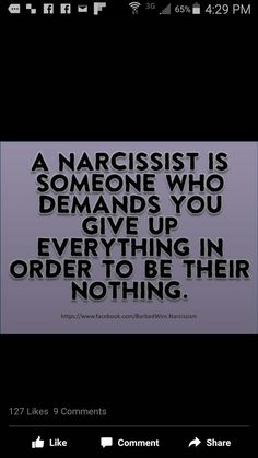 Narcissists demand and feel entitled to you and any resources you have…