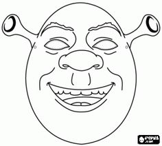 Shrek Mask coloring page- great party Activity. Make sure you have lots of green pencils handy. Printable Halloween Masks, Printable Masks, Theme Carnaval, Candy Cane Christmas Tree, Christmas Crafts For Kids To Make, Printable Activities For Kids, Halloween Door Decorations, Programming For Kids, Colouring Pages