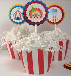 circus cupcake toppers