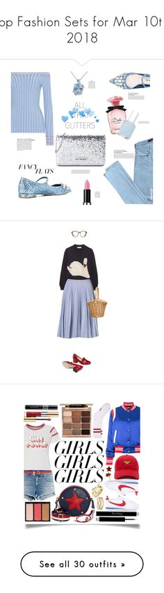 """""""Top Fashion Sets for Mar 10th, 2018"""" by polyvore ❤ liked on Polyvore featuring Altuzarra, Miu Miu, Miadora, J Brand, Love Moschino, MAKE UP FOR EVER, Dolce&Gabbana, Essie, ultracake and fancyflats"""
